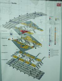 写真:中央駅の構内図