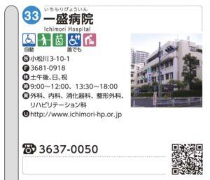 写真:江戸川区バリアフリーマップ一盛病院情報