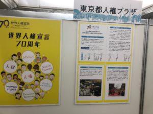 写真:東京都人権プラザ解説パネル