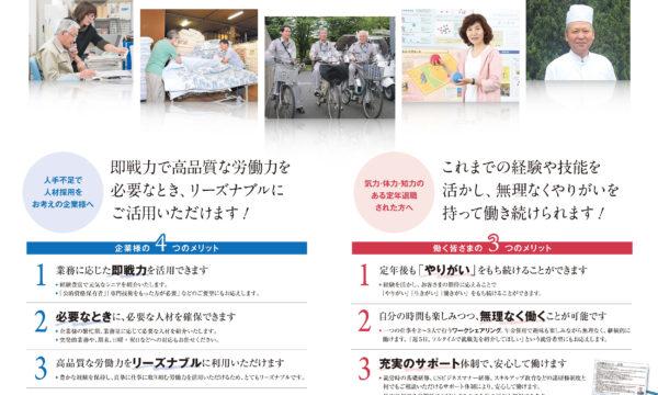 中面:高齢社会社案内パンフレット