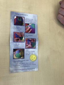 写真:エアバルーンの説明書