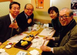 交流会写真:上田氏、ブライト小川、横川夫妻