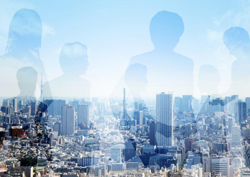 イメージ:都会と人物
