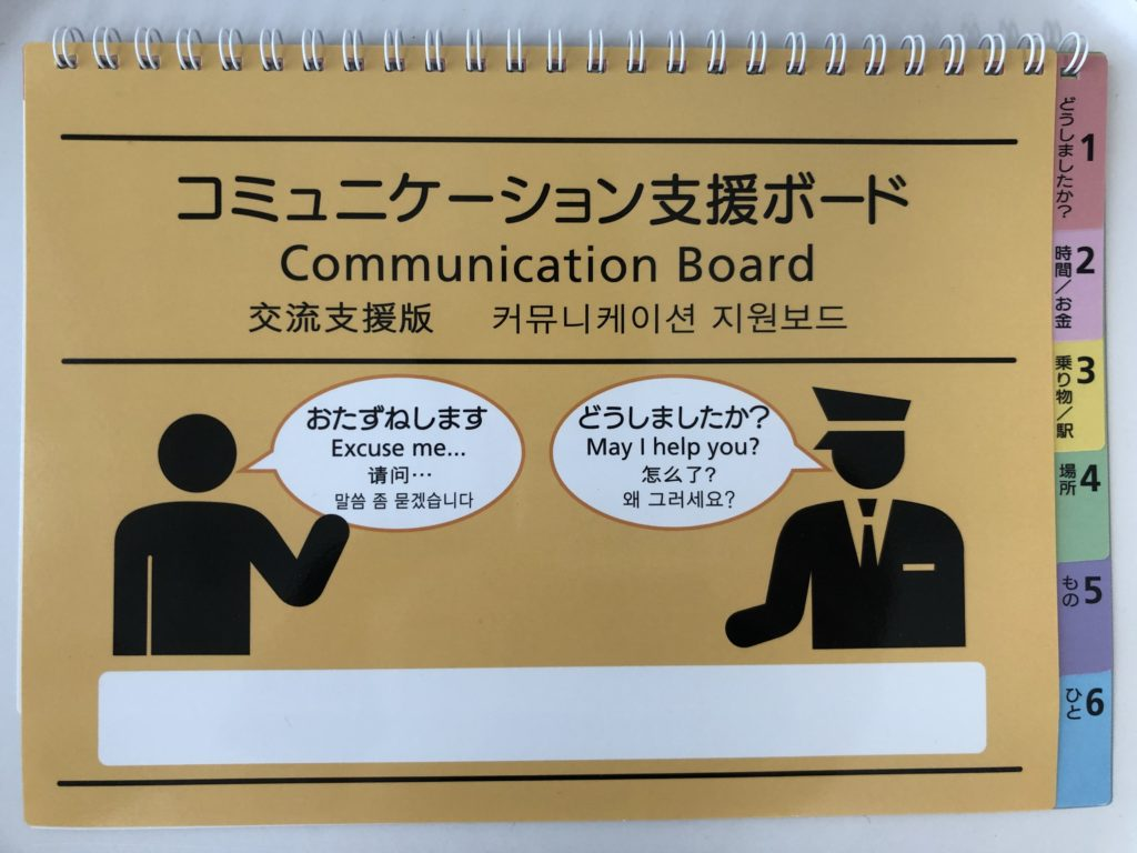 表紙:コミュニケーション支援ボード