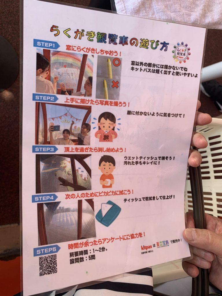 写真:らくがき観覧車の遊び方ポスター