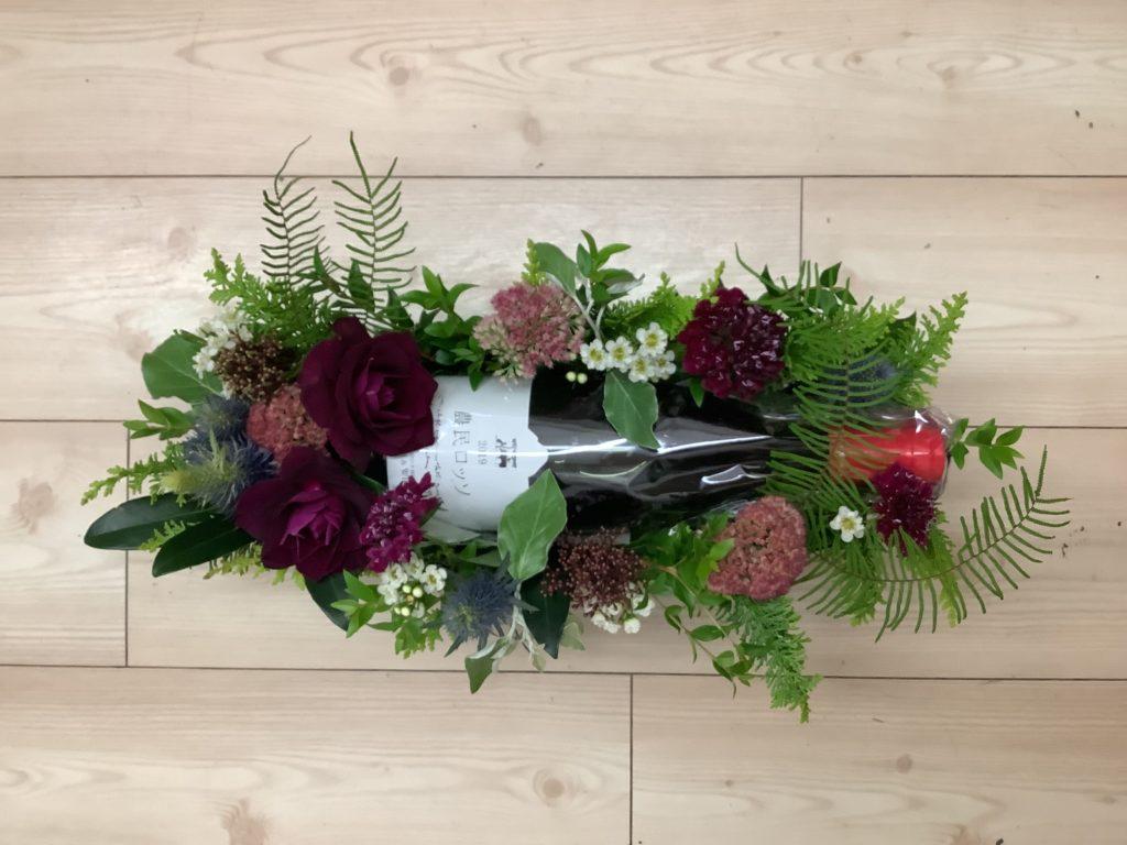 写真:ワインとお花のセット